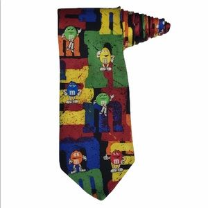 Ralph Marlin M&M's Characters Stamped silk Tie